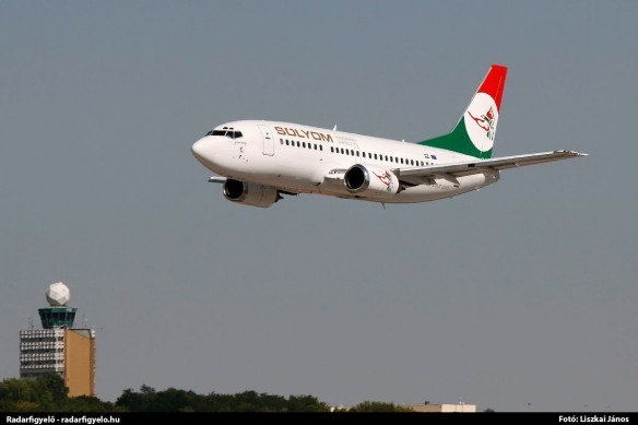 Sólyom Hungarian Airways' first Boeing 737-500 arrived